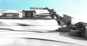 Cogne architecture project; prospective view