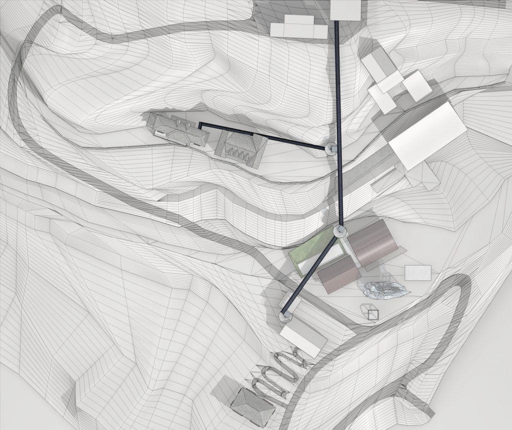 Illustrated planimetric view