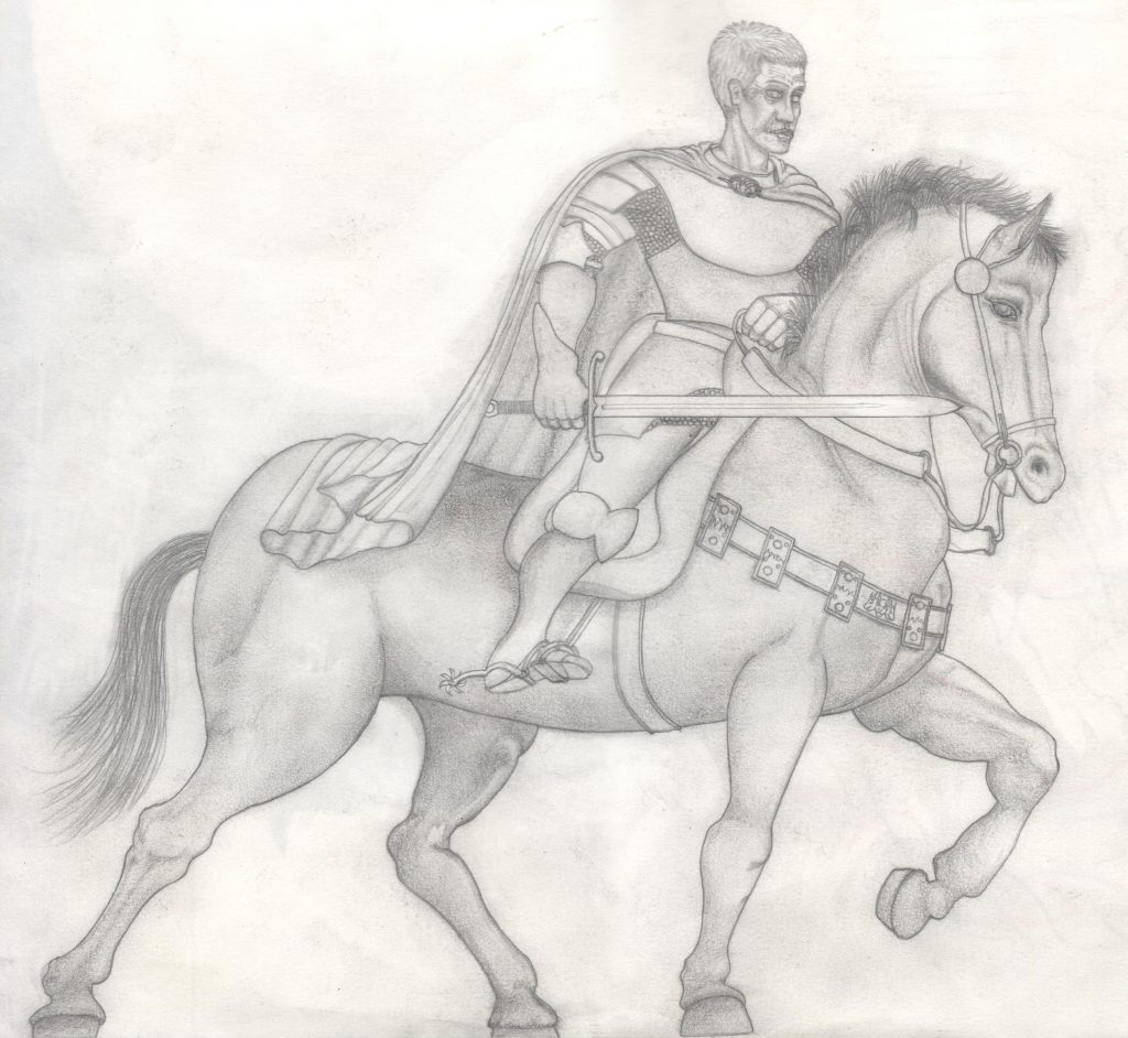ser Barristan Selmy on Daenerys Targaryen silver horse