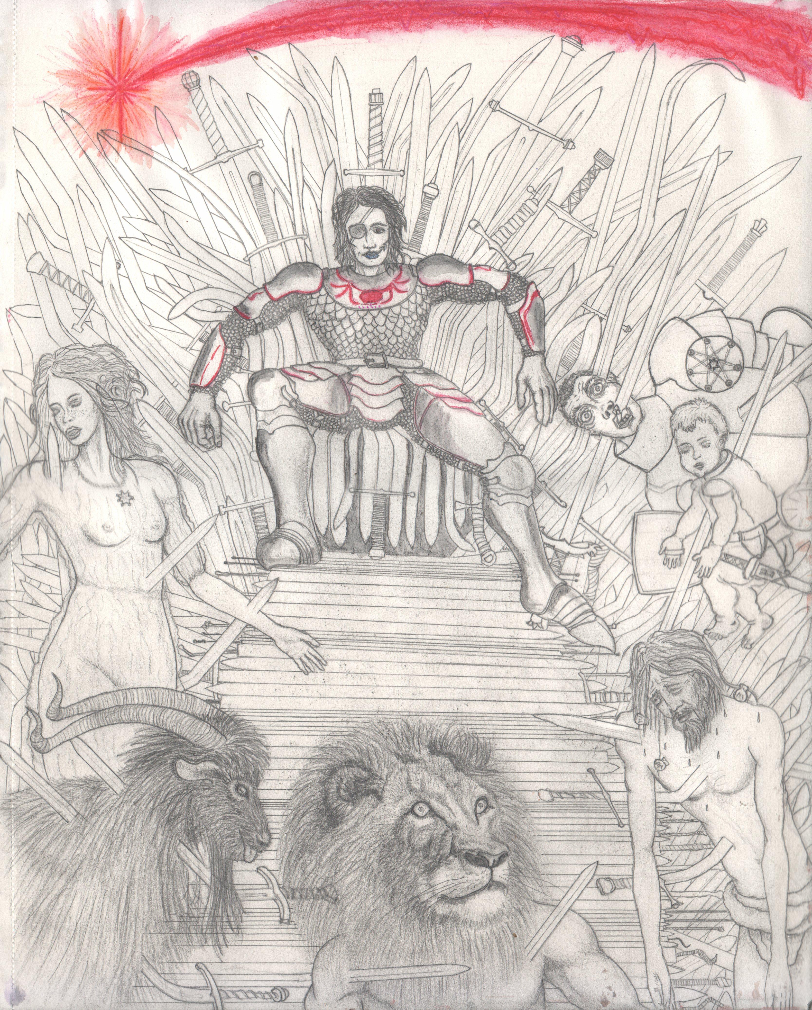 Euron Greyjoy king seated on the Iron Throne
