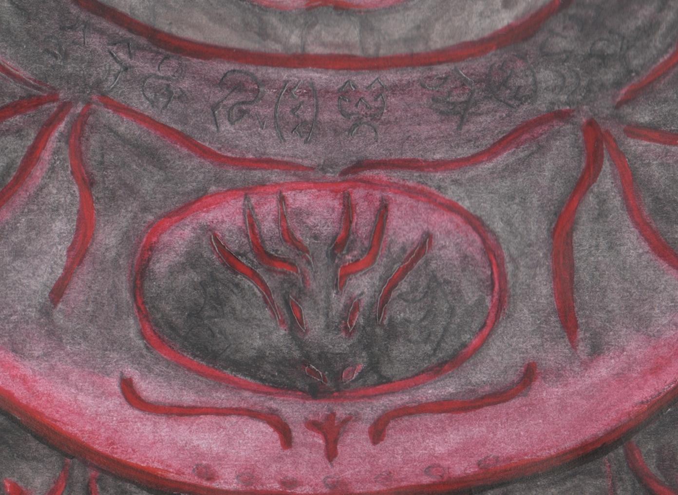 Detail of Jon's armor breastplate
