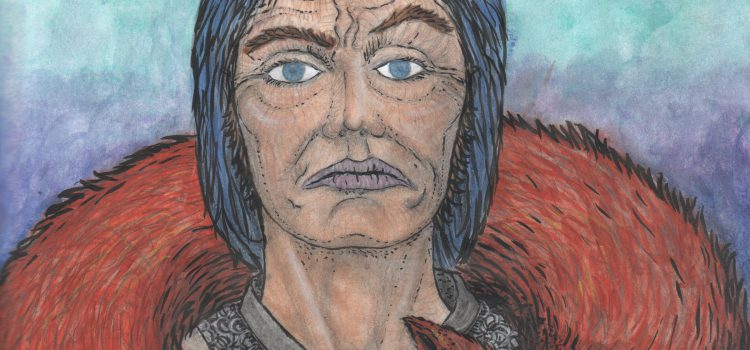 Jon Connington contemplating Blackheart golden skull; 'A Song of Ice & Fire' Illustration
