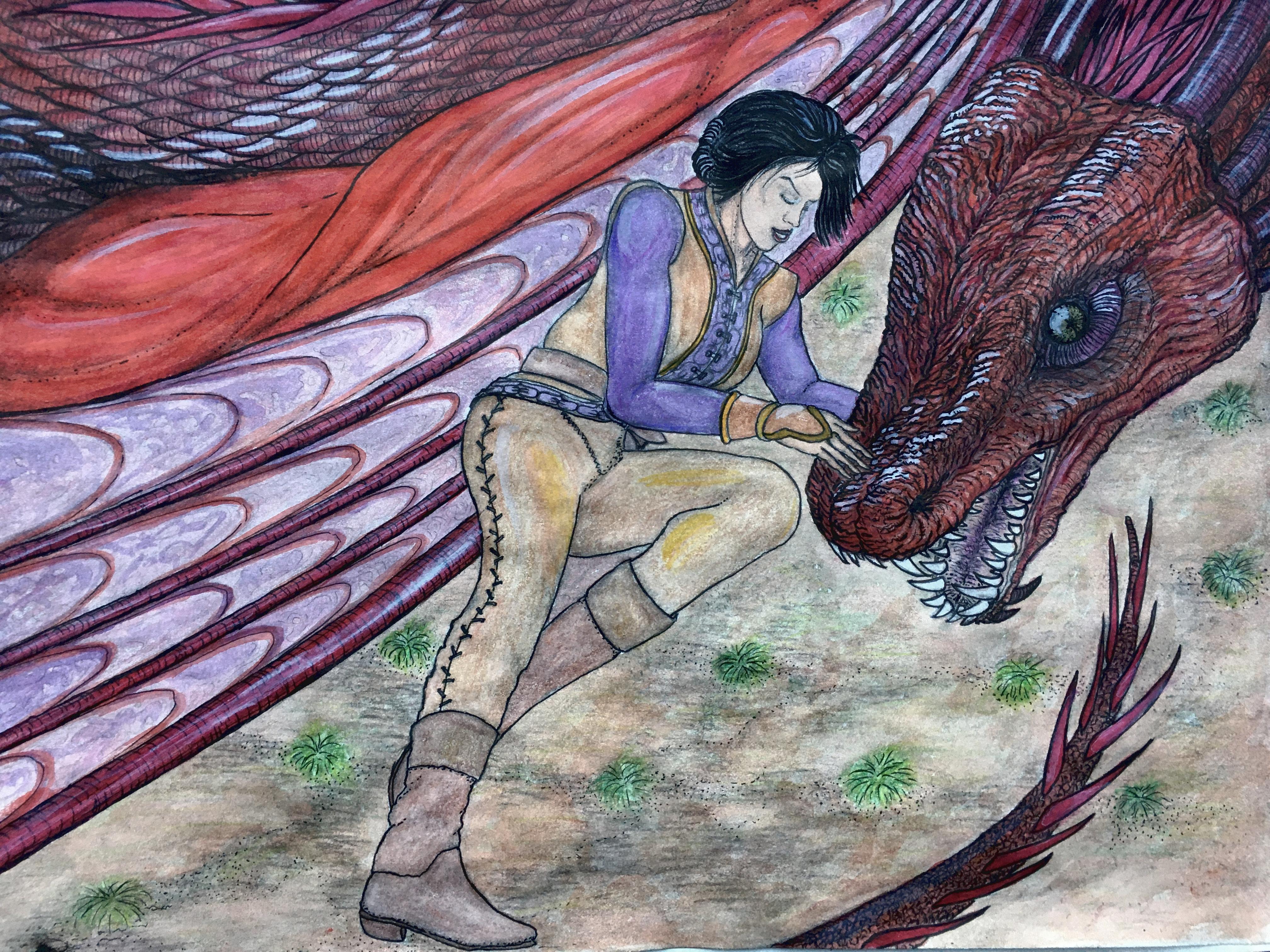 Princess Rhaenys Targaryen and the dragon Meleys